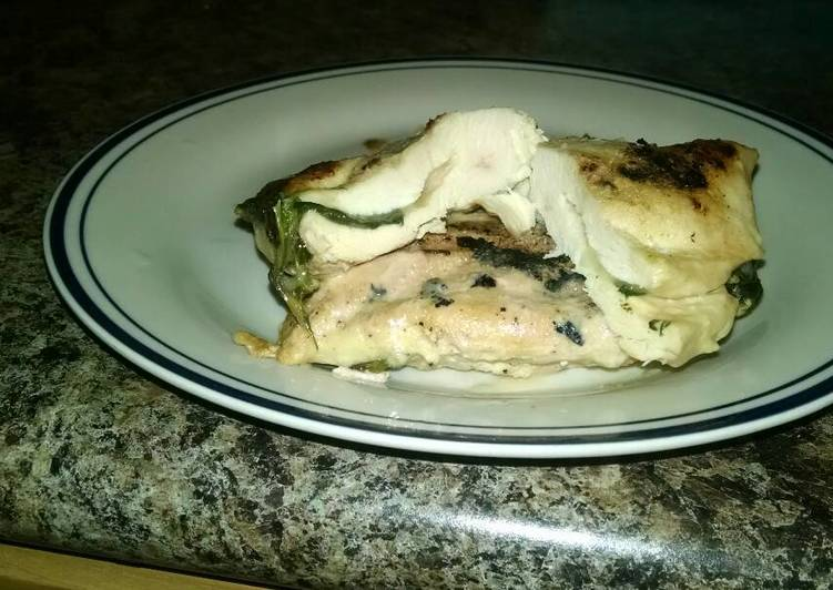 Provolone and Spinach Stuffed Chicken Breasts