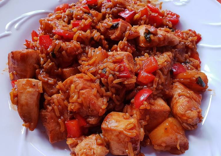 Pineapple chicken fried rice - Laurie G Edwards