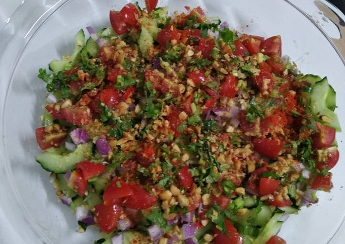 Indian stlye cucumber salad