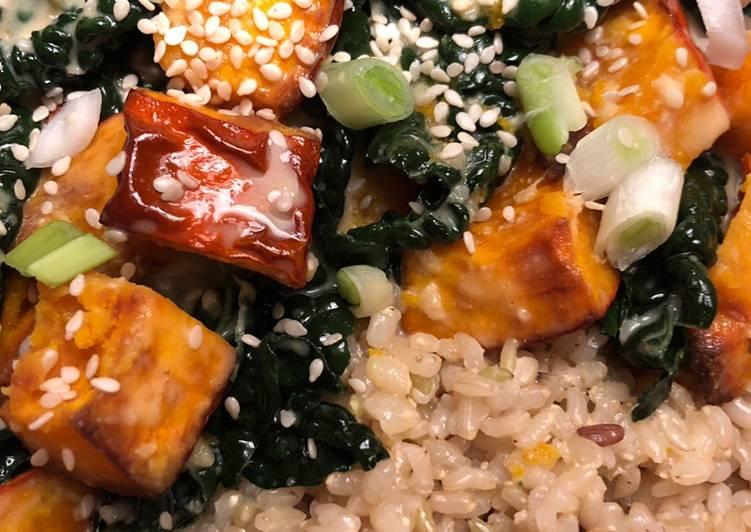 Step-by-Step Guide to Prepare Homemade Miso-sesame squash with cavolo nero - vegan