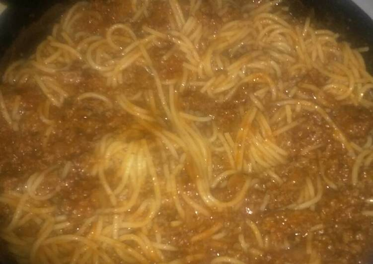 Recipe of Favorite Spaghetti & Meat Sauce