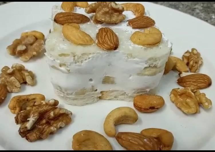 Bread🍞 Banana🍌 cream cheese dessert