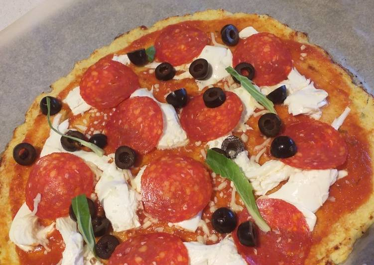 Masa de coliflor para pizza-keto