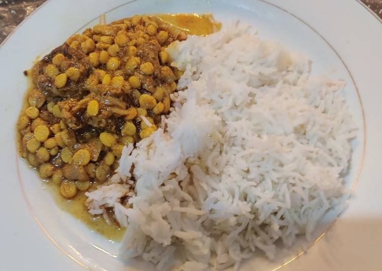 Easiest Way to Prepare Homemade Lamb and Split-chickpea Curry