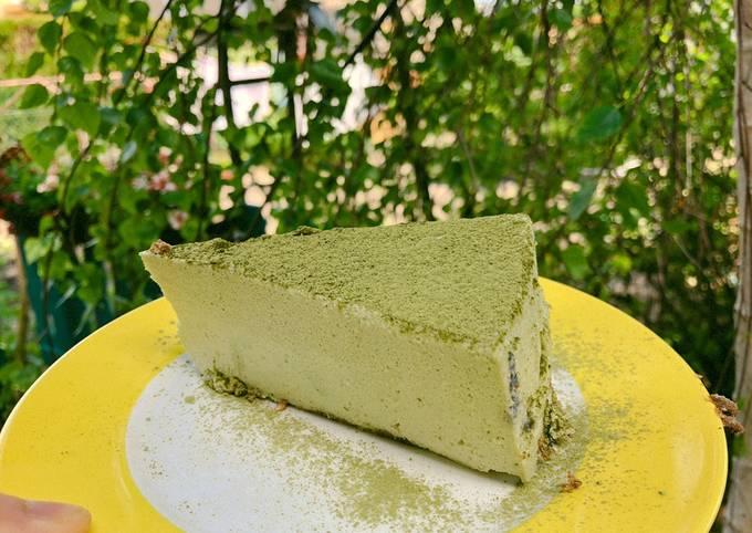 Non-baked Matcha cheesecake (easy)