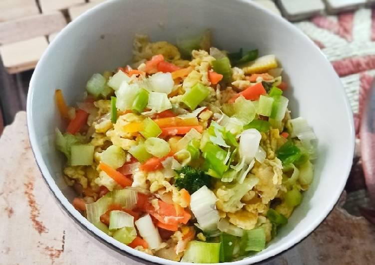 Resep Orak Arik Sayuran Telur Anti Gagal