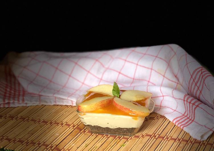 Recipe of Perfect Single serve no bake cheesecake