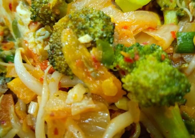 Tumis brokoli kimchi