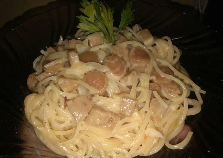 Spaghetti carbonara cheese