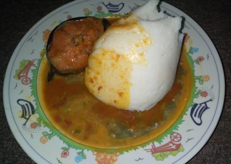 25 Minute How to Prepare Fall Tuwon shinkafa gbegiri okro n stew with cat fish