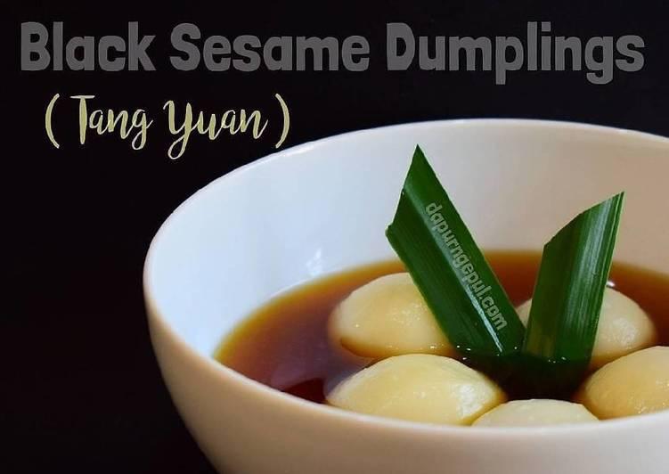 Black Sesame Dumplings (Tang Yuan)