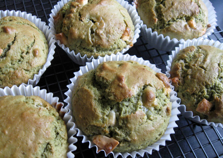 Step-by-Step Guide to Prepare Homemade Matcha & White Chocolate Muffins