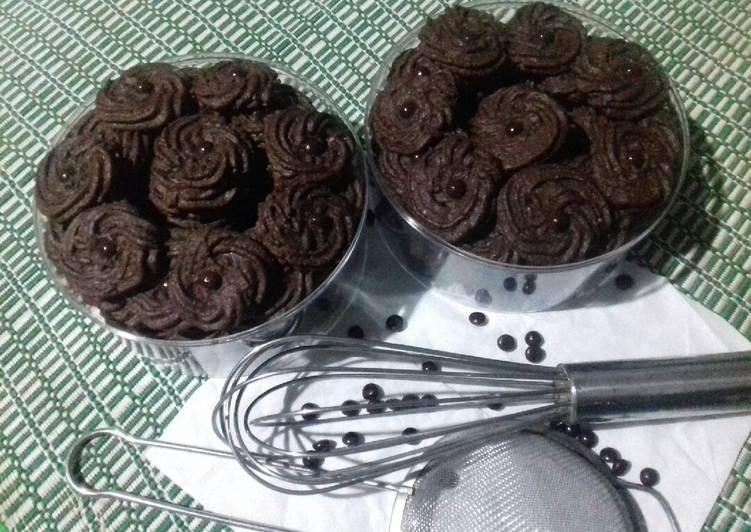 Si hitam manis yang yummy (chocolate cookies)