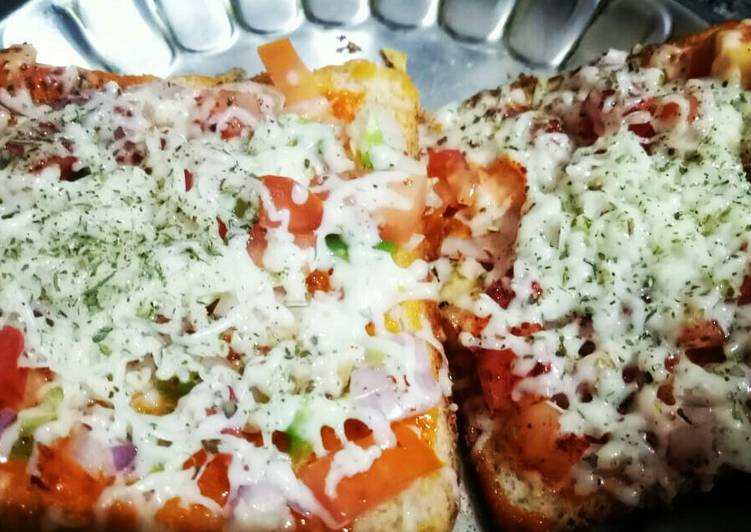 Recipe of Super Quick Homemade Quick bread pizza