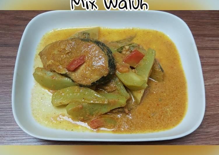 Gulai Ikan Tongkol mix waluh