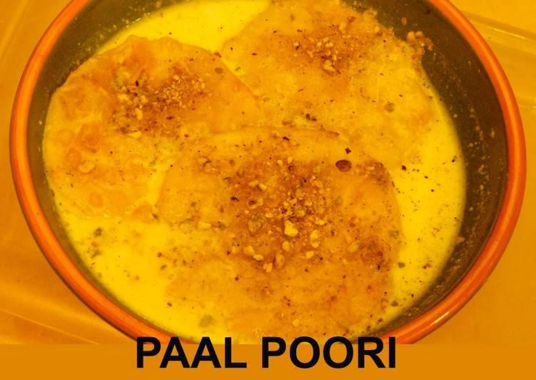 Paal Poori (Poori soaked in milk)