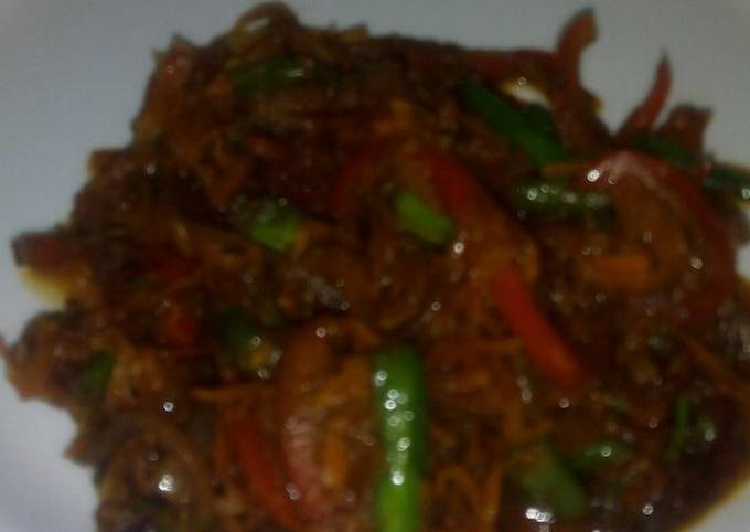 Red Pepper and French Beans Stir fry #Authorsmarathon#