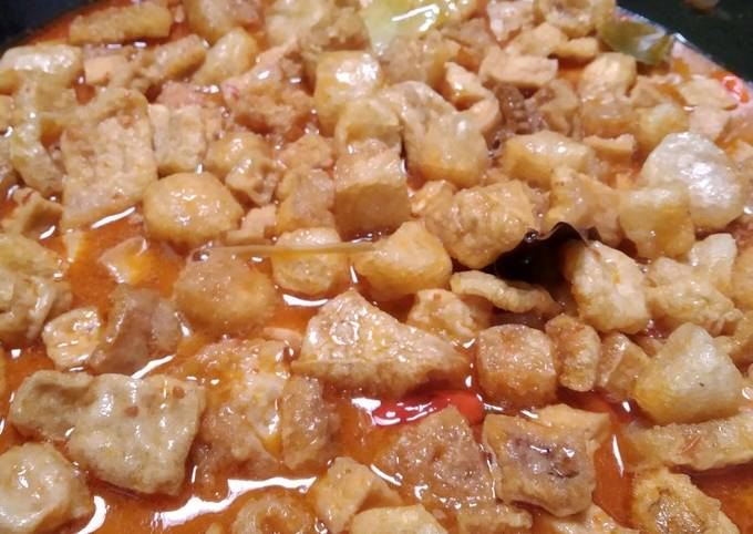 sayur krecek tahu kacang merah - resepenakbgt.com