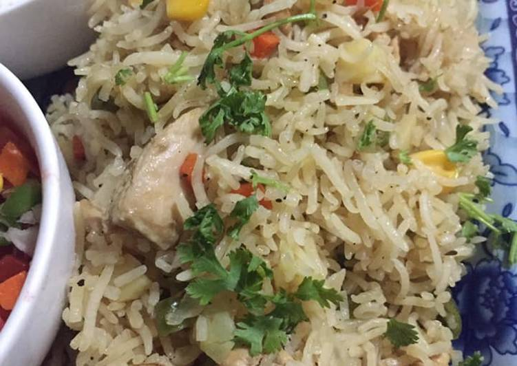 Chicken vegetables rice
