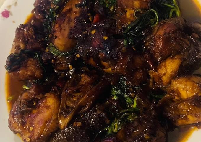 Ayam bakar kecap kemangi