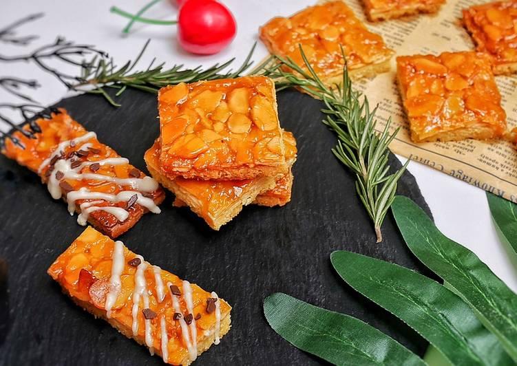Cara Menyajikan Resep Yummy Dari Florentin Almond Biscuits