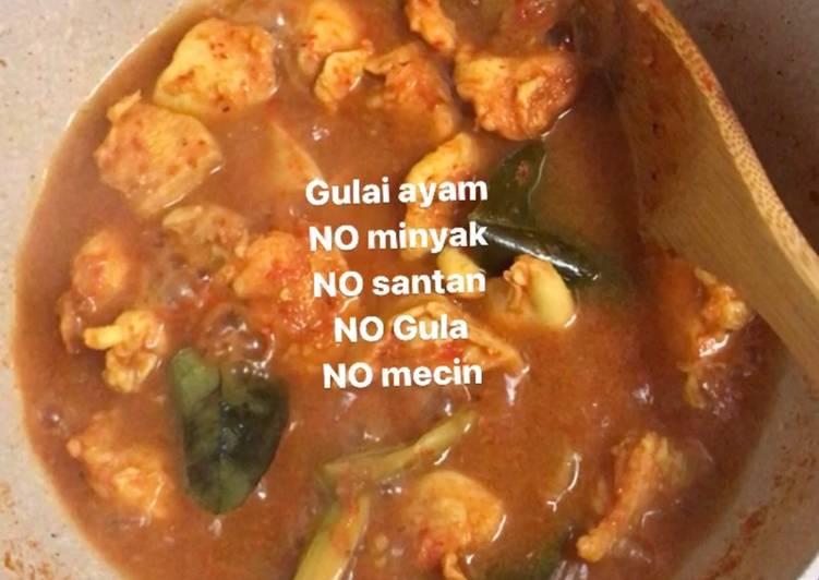 Resep Gulai ayam – diet no gula, minyak, santan,…