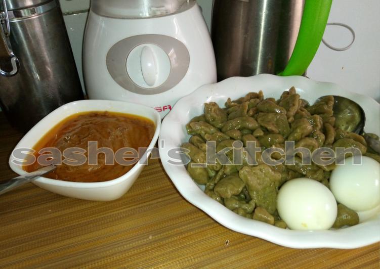 Flour dumpling with granut soup 2