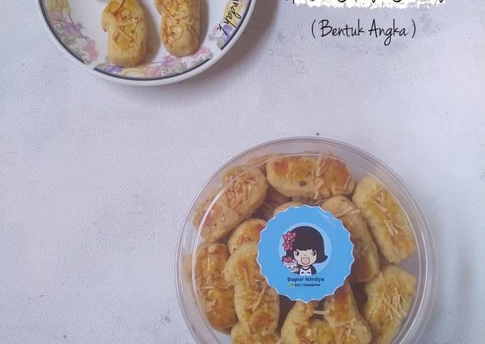 Garlic Cheese Cookies (Bentuk Angka)