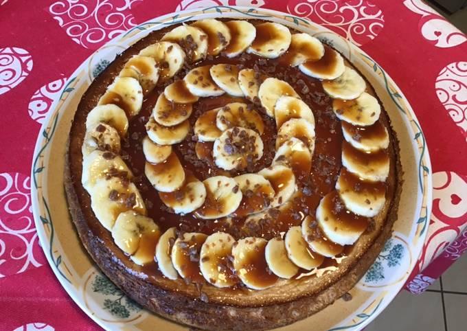 Cheesecake bananes citron caramel beurre salé
