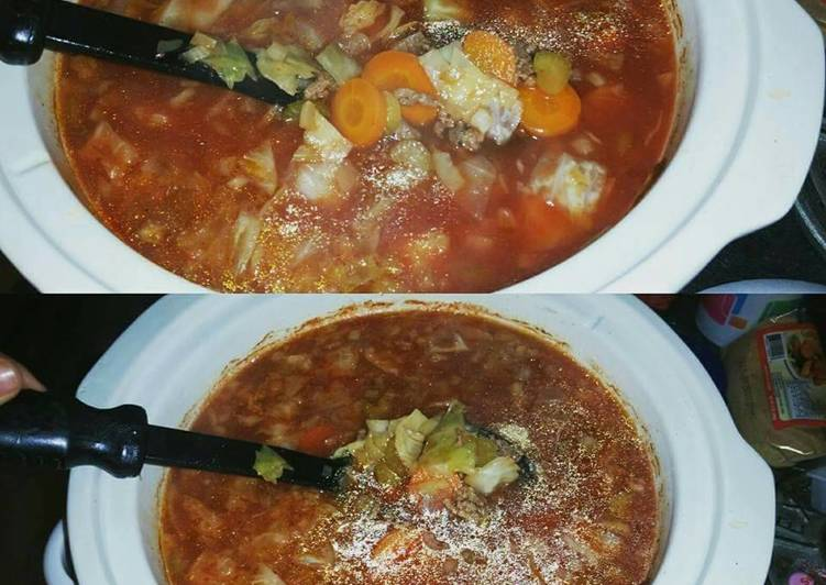 Step-by-Step Guide to Make Award-winning Hamburger Cabbage Soup