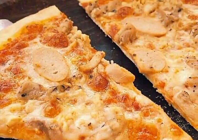 Easiest Way to Make Homemade Mushroom pizza slice