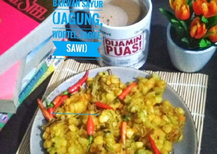 Bakwan Sayur (jagung, wortel, taoge, sawi)
