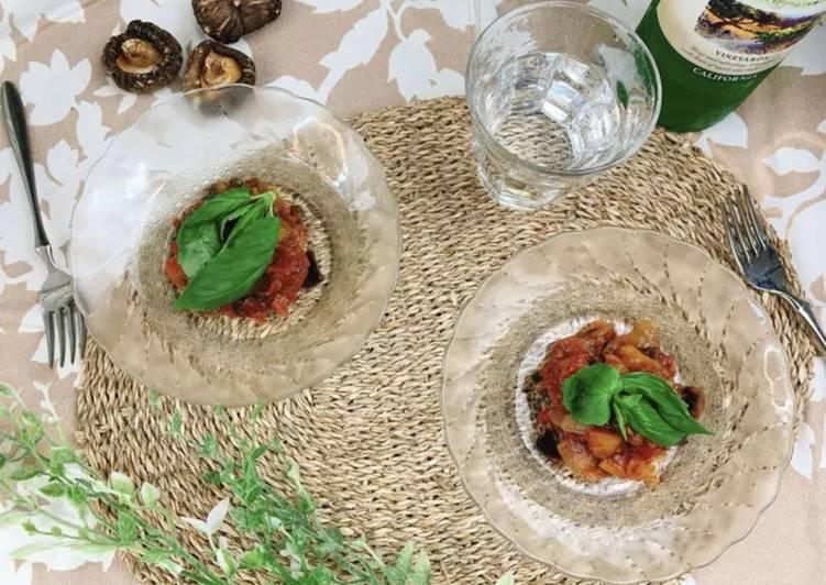 Easiest Way to Prepare Award-winning Delicious Caponata with Shiitake Powder