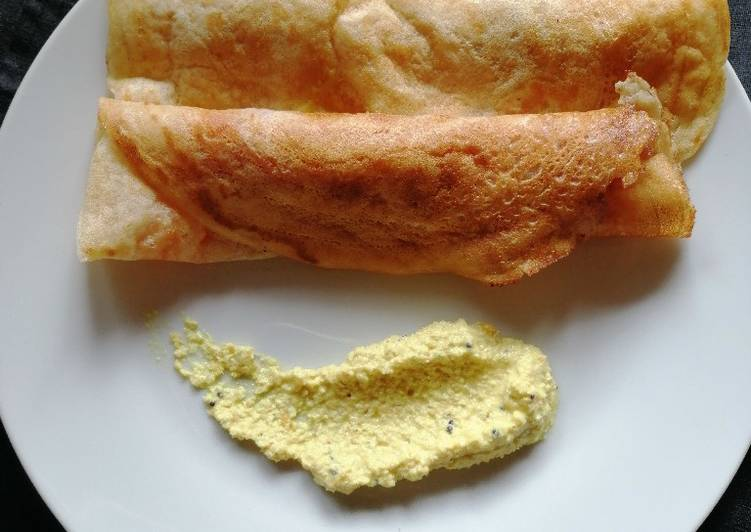 How to Cook Appetizing Wheat flour dosa with maxican salsa