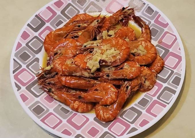 Buttered Shrimp with Cheese