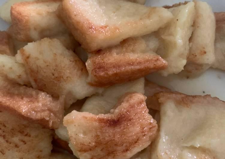 Kue pancong roti tawar caramel dengan teflon - cookandrecipe.com