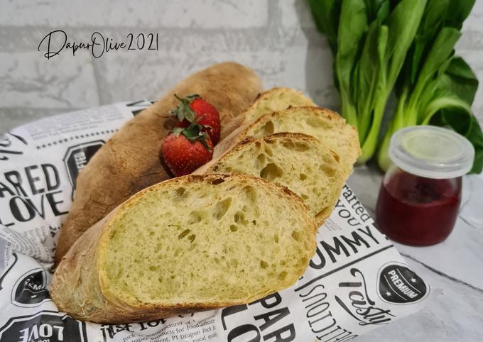 Pakcoy Ciabatta Roti Sehat tanpa Ulen