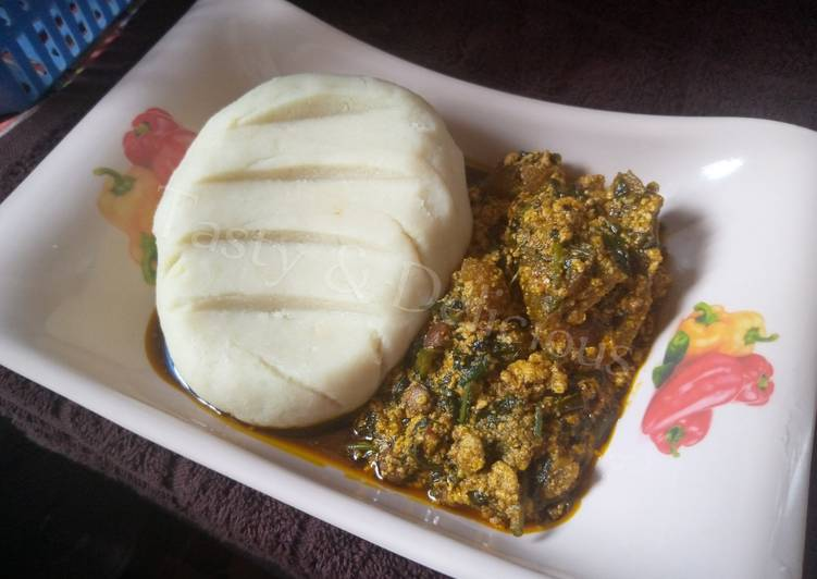 Steps to Make Award-winning Pounded Yam and Egusi Soup with Bitterleaf