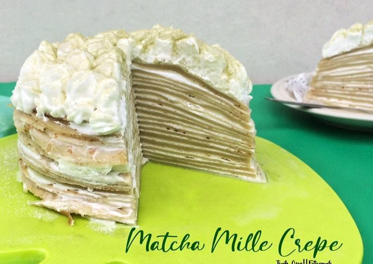 Matcha Mille Crepes Cake
