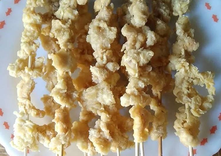 Sate ayam crispy - cookandrecipe.com
