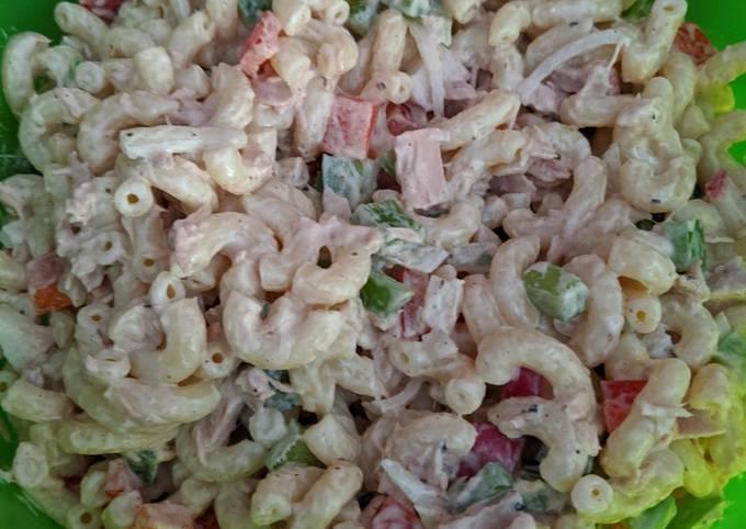 Macaroni Salad with Tunafish #America