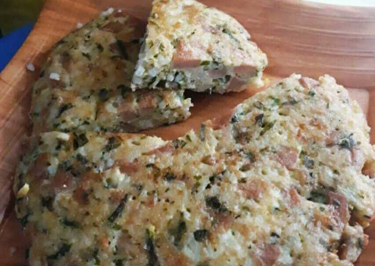 Rice Omelette-Sosis Pakchoy Keju