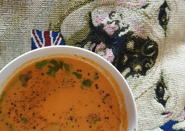 Easiest Way to Make Yummy Spicy cream of tomato soup