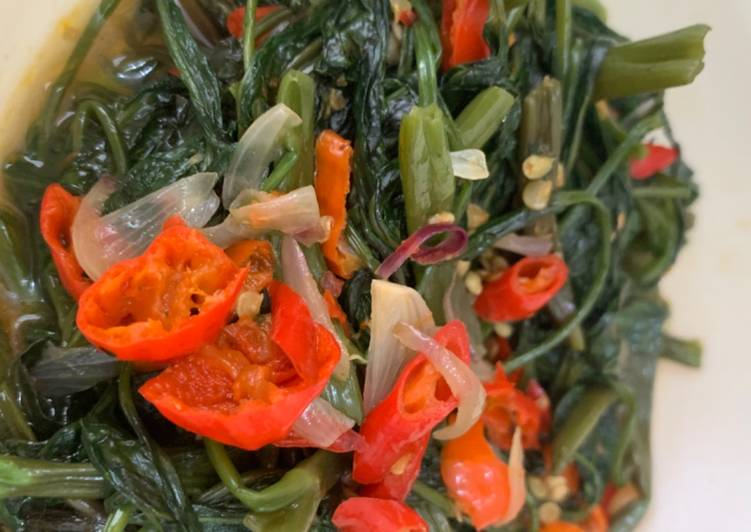 Sayur Kangkung Ala Anak Kos Korea