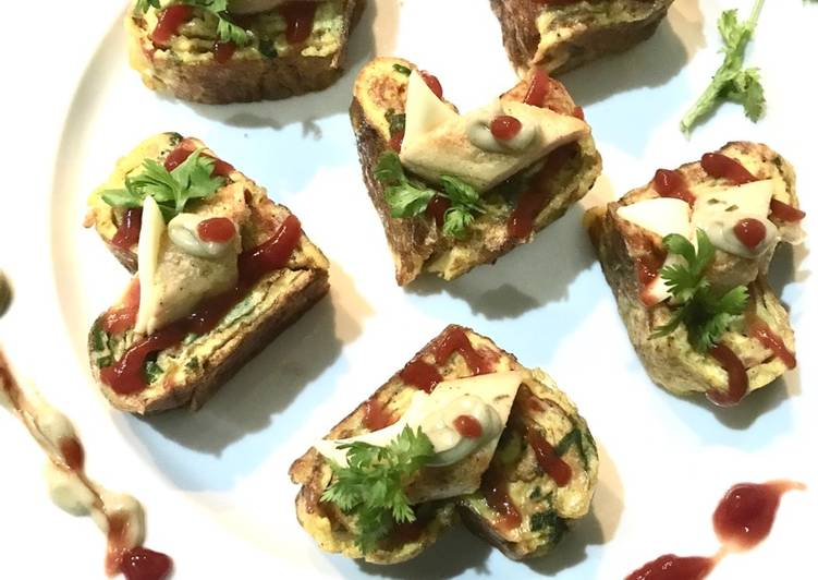 Simple Way to Prepare Perfect Heart shaped Korean rolled omlette canapé