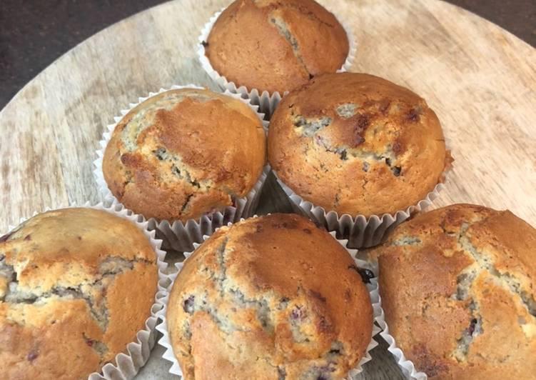 Recipe: Tasty Raspberry & white chocolate muffins