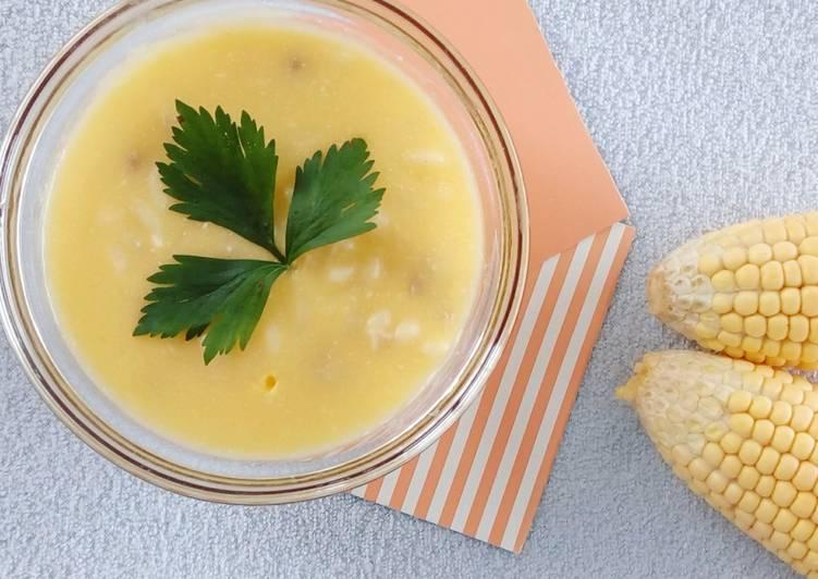 Creamy Chicken Corn Soup - MPASI