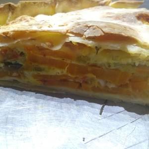 Tarta de batata y berenjena