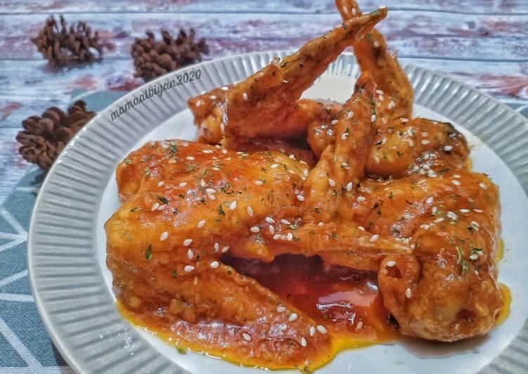 Cara Menghidangkan 284. Honey Spicy Chicken Untuk Pemula!
