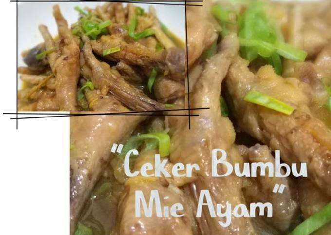 Ceker Bumbu Mie Ayam
